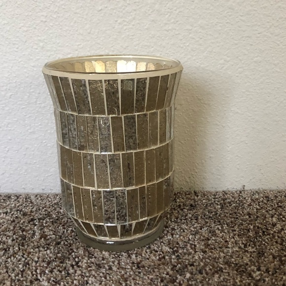 Small gold vase/candle holder